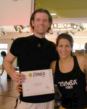 ZUMBA-Lizenz erworben im August 2009 bei der ZUMBA-Ausbilderin Marta Formoso Iglesias
